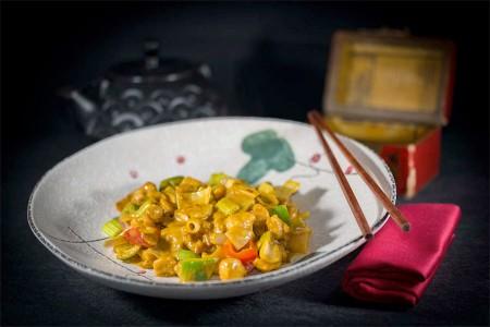 Poulet au curry rouge japonais